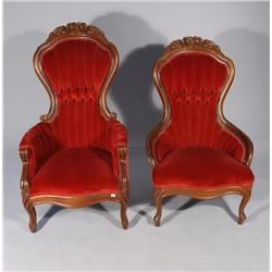 Two Victorian Ladies Chairs.