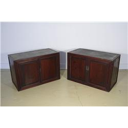 A Pair of Chinese Elm Cabinets.