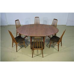 A Danish Rosewood Dining Suite, by Koefoeds, Hornslet,