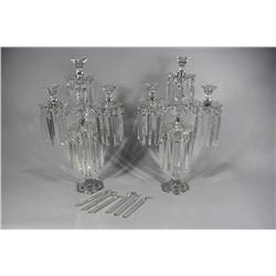 A Pair of Heisey Glass Candelabras.