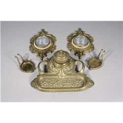 A Collection of Gilt Brass Decorative Items.