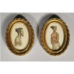 Two Tropical Portrait Engravings.