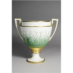 A Royal Vienna Painted Gilt Porcelain Urn.