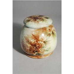 An American Belleek Porcelain Tobacco Jar.