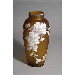 A Webb Cameo Glass Vase.