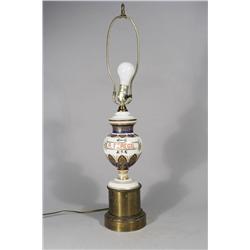 A Paris Porcelain Urn Mounted as a Lamp.