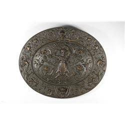 A J.E. & Co. Cast Iron Oval Plaque.