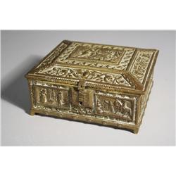 A Belgian Gilt Bronze Box.
