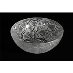 "A Rene Lalique ""Pinsons"" Bird and Fern Bowl, French, ca 1965"