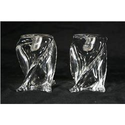 A Pair of St. Louis French Crystal Candlesticks.