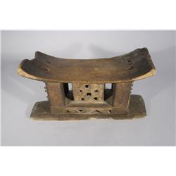 An African Carved Hardwood Ashanti Ceremonial Stool.
