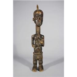 An African Carved Hardwood Lulua Tribal Cibola Figure.