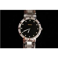 An 18kt. White Gold Geneve Watch, Swiss Movement,