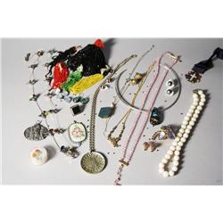 A Collection of Costume Jewelry, Silver and Semi Precious Stones.
