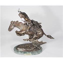"A Frederic Remington Reproduction Bronze, ""Cheyenne""."