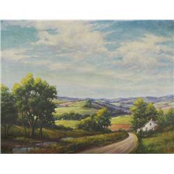 Calvin W. Fryer (American, 1871-1942) Landscape, Oil on canvas,