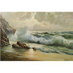 Guido Odierna (Italian, 1913-1991) Seascape, Oil on canvas,