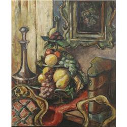 Artist Unknown (20th Century) Still Life, Oil on paper laid on matte board,
