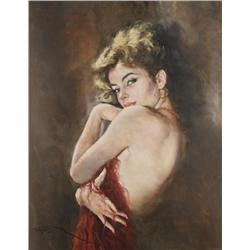 Pal Fried  (Hungarian/American, 1893-1976) Dancer, Oil on canvas,