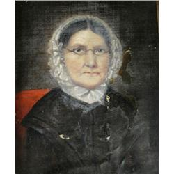 Artist Unknown, Portrait of an Old Woman, Oil on canvas,