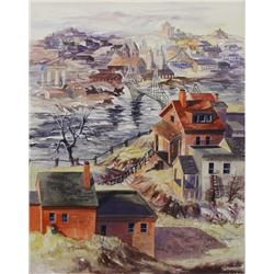 Artist Unknown (20th Century) Scenes of Pittsburgh, Watercolor on board,
