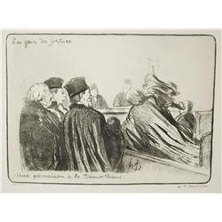 Honore Daumier (French, 1808-1879) A Group of Seven Lithographs, From Les Gens de Justice Series, To