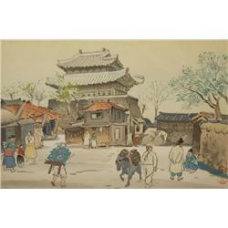 A Japanese Woodblock Print.