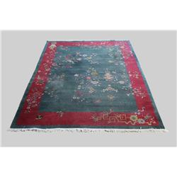 A Chinese Deco Wool Rug.