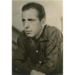 Humphrey Bogart signed portrait
