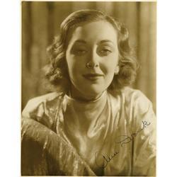 Ann Dvorak oversize portrait signed