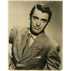 Cary Grant signed portrait