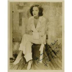 Greta Garbo inscribed portrait