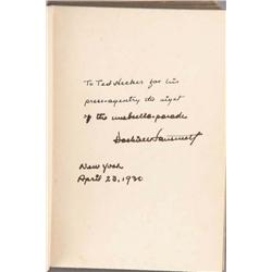 The Maltese Falcon inscribed and signed by Dashiell Hammett