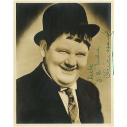 Stan Laurel and Oliver Hardy signed portraits