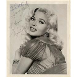 Jayne Mansfield signed portrait