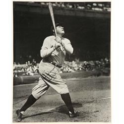 Exceptional Babe Ruth vintage oversize photograph signed