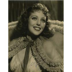 Loretta Young oversize portrait signed