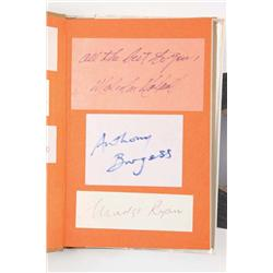 Three cast-signed books: The Bonnie & Clyde Book, All About Eve and A Clockwork Orange