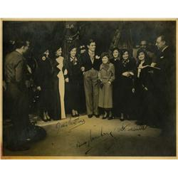 Signed on set photo from Evergreen, Pier Paolo Pasolini and Robert Rossellini signed film programs