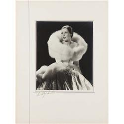Irene Dunne exhibition portrait from Roberta by Ernest A. Bachrach