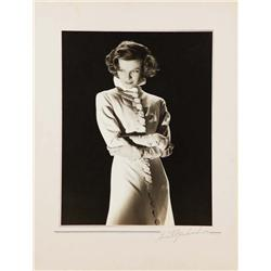 Katharine Hepburn exhibition portrait from Christopher Strong by Ernest A. Bachrach