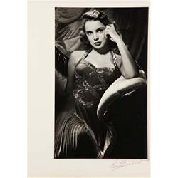 Janet Leigh exhibition portrait from Holiday Affair by Ernest A. Bachrach