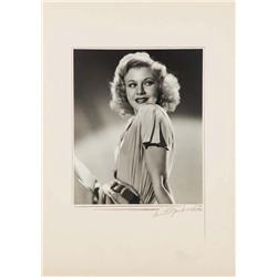 Ginger Rogers exhibition portrait from Top Hat by Ernest A. Bachrach