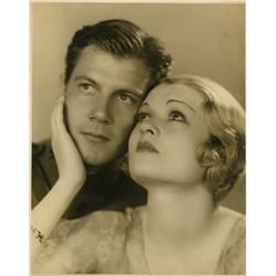 Constance Bennett and Joel McCrea oversize gallery portraits from Born to Love