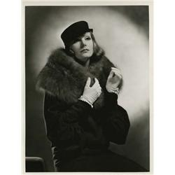 Greta Garbo oversize gallery portrait from Grand Hotel by Clarence Sinclair Bull