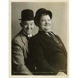 Stan Laurel and Oliver Hardy portrait by Stax