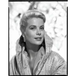 Grace Kelly black-and-white camera negative and proof print from Rear Window by Bud Fraker