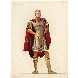 Santiago costume sketch for Richard Burton from The Robe