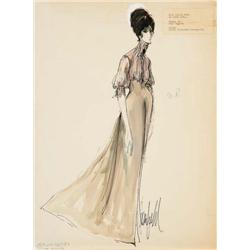 Donfeld costume sketch for Janice Rule from Hombre
