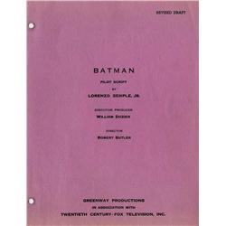 Batman pilot episode rainbow script w/ revisions and Batman Fine Feathered Finks First Draft Script
